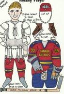 Hockey Player Cutout Postcard - Winter Sports