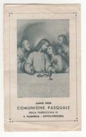 Santino Antico Comunione Pasquale 1939 Da Civitavecchia - Roma - Religion & Esotérisme
