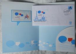 Russia 2010. The Year France - Russia. Souvenir Folder - Emissioni Congiunte