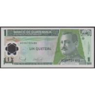 TWN - GUATEMALA 109 - 1 Quetzal 20.12.2006 Polymer - B XXXXXXX B - Printer: CANADIAN BANK NOTE UNC - Guatemala