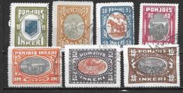 Ingrie 1920 N°8/14 Oblitérés Série Courante - Finland