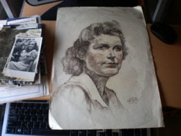 Old Pastels Drawings 1954 Women - Pastelli