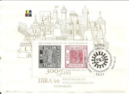 Allemagne Germany 1999 Timbre Sur Timbre Stamp On Stamp Feuille Block Obl - Used Stamps