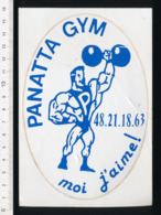 (avec Défaut) Autocollant Sticker Panatta Gym Musculation Body-Building Poids Et Haltères ADH 21/20 - Aufkleber