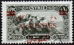 Alaouites Obl. N° 36 Site Ou Monument - Merkab Surchage De 4 P Sur 0p25 - Oblitérés