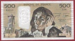 "500 Francs ""Pascal"" Du 07/06/1979.B--F/TTB+---ALPH .S.99 - 1962-1997 ''Francs''"