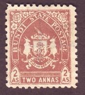 India-Bundi State 2 Annas 1941/Scott39/Cat $10.50 Revenue Used #DF671 - Bundi