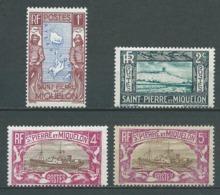 SAINT PIERRE ET MIQUELON 1932/33 . N°s 136 , 137 , 138 Et 139  . Neufs  ** (MNH) . - St.Pierre Et Miquelon