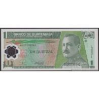 TWN - GUATEMALA 115a - 1 Quetzal 12.3.2008 Polymer - B XXXXXXX B - Printer: OBERTHUR TECHNOLOGIES UNC - Guatemala