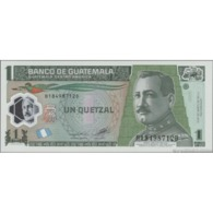 TWN - GUATEMALA 115d - 1 Quetzal 17.10.2012 Polymer - B XXXXXXX D - Printer: CBNC UNC - Guatemala