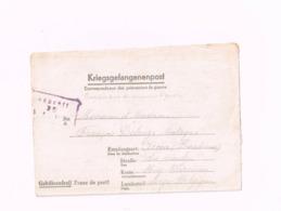 Kriegsgefangenenpost.Expédié Du Stalag IV C à Acosse (Burdinne/Belgique).Censuré. - Guerra '40-'45