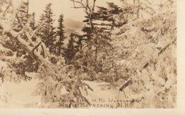 A White View Of Mount Washington, White Mountains, New Hampshire  R. P. P. C. - White Mountains