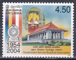 Sri Lanka 2004 Staatswesen Verwaltung Independence Hall Bauwerke Gebäude Mönche Monks Wappen Arms, Mi. 1477 ** - Sri Lanka (Ceylon) (1948-...)