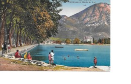 74 ANNECY Cpa Promenade Et Bords Du Lac  324 LL - Annecy