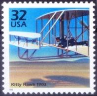 1903 Kitty Hawk Wright Brothers, Aviation, Millennium, USA 1998 MNH    ( - Aerei