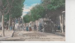 63 CHATEL GUYON  -  Avenue Baraduc  -  Départ Pour Riom De L'Autobus Et De La Voiture  -  Colorisée  - - Châtel-Guyon