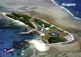 1 AK Marshall Islands - Kwajalein Atoll * Blick Auf Die Insel Gagan - Luftbildaufnahme * - Islas Marshall