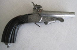 Petit Pistolet à Broche De Voyage, à Canon Double Basculant, Calibre 11 Mm - Armes Neutralisées