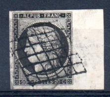 SUPERBE - YT N° 3 Signé Bord De Feuille - Cote : 65,00 € - 1849-1850 Cérès
