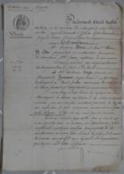 Manuscrit 1861.Antoine Beau à Champeix,vend à Antoine Mage à Montaigut-le-Blanc,une Pièce De Terre..... - Manuscripts