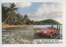 Automobile Citroën BX : Faites Découvrir La BX.. Antilles (vols Air France, Hotels Frantel) Cp Vierge - Passenger Cars