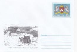 2002, MOLDOVA   MOLDAVIE   MOLDAWIEN  MOLDAU , Pre-paid Envelope , Horses Coat  Railway Bridge - Briefe U. Dokumente
