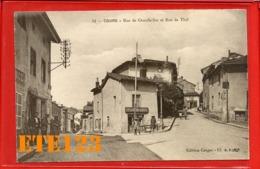 Cours Rhône - Rue De Chauffailles Et Rue De Thel - Café Cayot - 69 Rhône - Cours-la-Ville