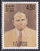 Sri Lanka 2003 Geschichte History Persönlichkeiten Politker Politicians Ukku Banda Wanninayake, Mi. 1444 ** - Sri Lanka (Ceylon) (1948-...)
