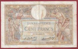 "100 Francs ""Luc Olivier Merson"" Du 15/09/1932.FY ---F/TTB+--ALPH B.37067--(13) - 1871-1952 Antiguos Francos Circulantes En El XX Siglo"
