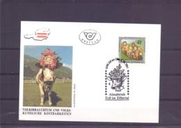 Rep. Österreich - Ersttag - Almabtrieb - Zell Im Zillertal 4/10/1991   (RM15189) - Vaches