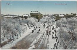 Rīga - Alexander-Boulevard - & Tram - Lettonie