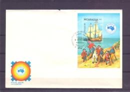 Nicaragua - FDC - Ausipex 84 -  Managfua 21/9/84    (RM15199) - Bateaux