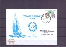 België - A958 Zenobe Gramme - 35 Jaar - 50 Jaar Zeemacht ZM-FN - Temse 27/12/96   (RM15205) - Bateaux