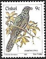 Ciskei (South Africa) - MNH - 1981 -        Black Cuckoo    Cuculus Clamosus - Cuckoos & Turacos