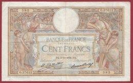 "100 Francs ""Luc Olivier Merson"" Du 03/11/1932.EQ ---F/TTB+--ALPH O.37612--(15) - 1871-1952 Antiguos Francos Circulantes En El XX Siglo"