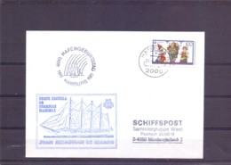 Deutsche Bundespost - Buque Escuela De Guardias Marinas - Juan Sebastian De Elcano - Hamburg 1989   (RM15278) - Bateaux