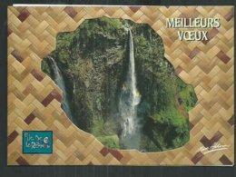Réunion, Carte 3 Volets Meilleurs Voeux Avec Vue Du Trou De Fer Et Calendrier 1994 - Autres