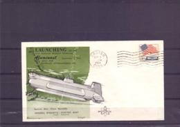 U.S.A. - Launching First Aluminium Research Submarine -  Grroton 2/9/1964   (RM15346) - Sous-marins