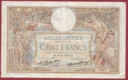 "100 Francs ""Luc Olivier Merson"" Du 17/11/1932.CZ ---F/TTB+--ALPH W.37860--(17) - 1871-1952 Antiguos Francos Circulantes En El XX Siglo"