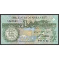 TWN - GUERNSEY 52b - 1 Pound 1996-2002 Prefix S - Signature: Trestain UNC - Guernsey