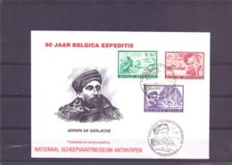 België - 90 Jaar Belgica Expeditie - Adrien De Gerlache - Antwerpen 5/11/1989    (RM15376) - Poolreizigers & Beroemdheden