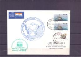 RSA - Akademik Fedorov 1989 - Polarstern -  Cape Town 30/10/89     (RM15378) - Navires & Brise-glace