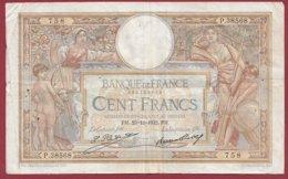 """100 Francs """"Luc Olivier Merson"""" Du 29/12/1932.PM ---F/TTB+--ALPH .P.38568----(18) - 1871-1952 Antiguos Francos Circulantes En El XX Siglo"""