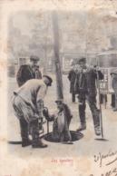 75 / Paris Petits Métiers - Edit Kunzli, Légende Rouge - Les EGOUTIERS - PRECURSEUR 1903 - Petits Métiers à Paris