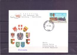 Rep. Österreich - Letzttag Der Bahnpost 500  Salzburg - Saalfelden   27/5/95    (RM15414) - Trains