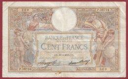 """100 Francs """"Luc Olivier Merson"""" Du 19/01/1933.CX ---F/TTB+--ALPH .P.38794----(19) - 1871-1952 Antiguos Francos Circulantes En El XX Siglo"""