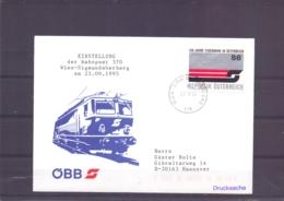 Rep. Österreich - Einstellung Bahnpost 370 Wien - Sigmundsherberg - 23/9/95    (RM15473) - Trains