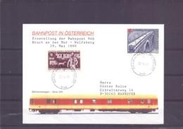 Rep. Österreich - Einstellung Bahnpost 946  Bruck An Der Mur -  Wolfsberg  - 29/5/1999   (RM15478) - Trains