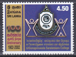 Sri Lanka 2003 Bildung Ausbildung Education Schulen Scools Gonapiluwala Saralankara College, Mi. 1393 ** - Sri Lanka (Ceylon) (1948-...)