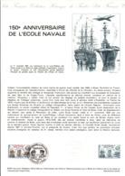 DOCUMENT FDC 1981 150 ANS DE L'ECOLE NAVALE - DESSIN DE DECARIS - Documents De La Poste